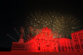 Simulated Fireworks Show in Catania (Italy)